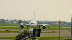 Traffic at Suvarnabhumi Airport Stock Footage