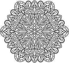 Abstract vector round lace design - mandala, decorative element Stock Illustration