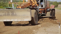 Grader on construction of new roads Stock Footage