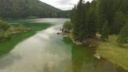 Beautiful Belopeska Lake Stock Footage