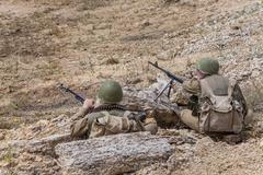 Soviet Spetsnaz in Afghanistan Stock Photos