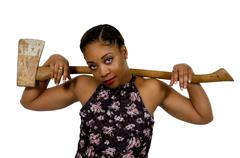 Woman with Axe Stock Photos