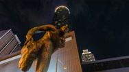 4K Atlanta, Georgia Dolly Timelapse shot of Statue at Westin Downtown Stock Footage