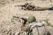 Soviet Spetsnaz in Afghanistan Stock Photos