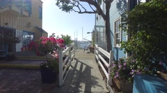 Marina Del Rey, walking with steadicam Stock Footage