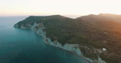 Aerial view of Corfu island Stock Footage