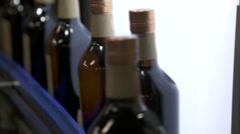 Scotch whisky bottles  Stock Footage