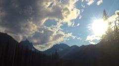 Kootenay Park Lodge, Canada (time lapse) Stock Footage