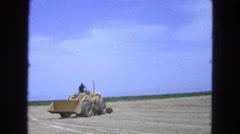 1965: land reforming using tractor MEXICO Stock Footage