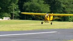 Piper J-3 Cub Landing Stock Footage