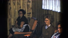 1961: attending meeting between so for women of the family to treat mother's day Stock Footage