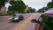 Fast driving in predawn traffic, hyperlapse seamless loop Stock Footage