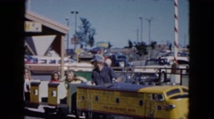 1961: kids riding a miniature train MICHIGAN Stock Footage