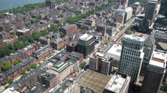 Buildings And Streets Seen From Prudential Tower Stock Footage