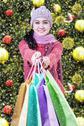 Shopaholic giving shopping bags Stock Photos