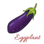 Sketched eggplant or aubergine vegetable Stock Illustration