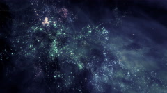Flying through star fields in space - Space Travel 2199 HD, 4K Stock Footage Stock Footage