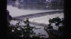 1956: waterfall pouring down high speed pure nature forest area BOSTON Stock Footage