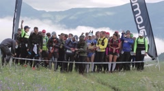 Start of ALTAY ULTRA TRAIL Stock Footage