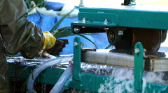 Machine wash spring onions for sale. Stock Footage