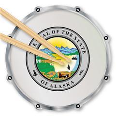 Alaska Snare Drum Stock Illustration
