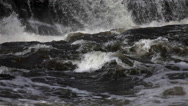 Water falls, hogs back, Ottawa, Ontario, Canada, fast shutter, spring,  small Stock Footage