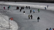 Rideau Canal Skating Stock Footage