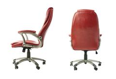 Set of Office chair over isolated white background Stock Photos