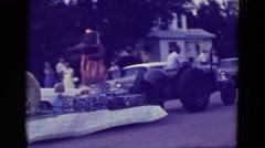 1965: people watching a parade CLARKSON, NEBRASKA Stock Footage