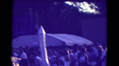 1965: a town parade with truck with the church people. DILLER, NEBRASKA Stock Footage