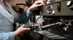 Barista Pouring Espresso Cafe Stock Footage