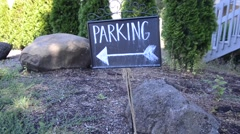 Parking Sign Direction Stock Footage