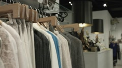 Clothing Boutique Line of Clothes Stock Footage