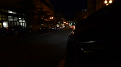 Driving in City at Night Stock Footage