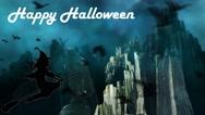 Happy Halloween Virtual Green Screen Background Loop Stock Footage