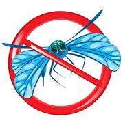 Sign prohibition insect Stock Illustration