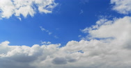 Clouds in the sky when the wind is strong. Time Lapse. Stock Footage