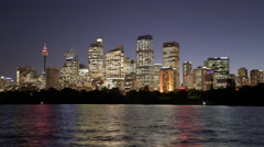 Sydney CBD Night Time Lapse Stock Footage