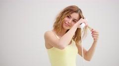 Hair Straightening Irons Stock Footage