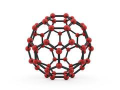 Molecular mesh structure rendered Stock Illustration