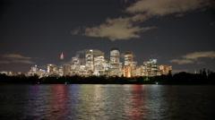 Sydney CBD Time Lapse At Night Stock Footage