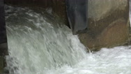 Salmon jumps into the falling water and charge upstream Stock Footage