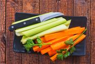 Celery with carrot Stock Photos
