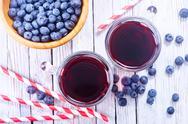 Blueberry juice Stock Photos