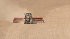 Tractor Planting Row Crop On Hot Day 1 Stock Footage