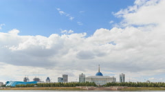 Akorda Palace of Independence. View from the river. Astana, Kazakhstan. HDR. Stock Footage