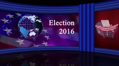 US Election Virtual Green Screen Background Loop Stock Footage
