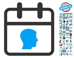 Personal Day Flat Vector Icon With Bonus Stock Illustration