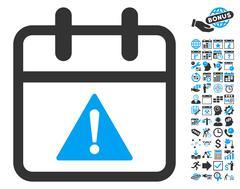 Problem Day Flat Vector Icon With Bonus Stock Illustration