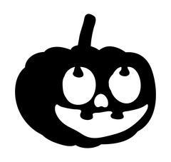 Scary, pumpkin face vector symbol icon design Stock Illustration